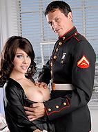 Sarina s marine lover. Excited shemale Sarina Valentina fuck a marine